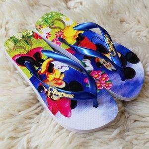 NWOT Carmen Steffens Disney Flip Flops